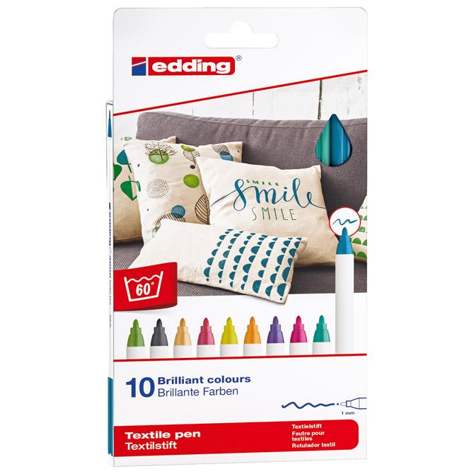Flomaster za tekstil 1mm 10 fun boja pk10 Edding 4600 blister