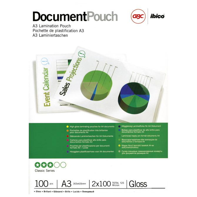Folija za plastificiranje 125my A3 sjajna pk100 GBC 3200725