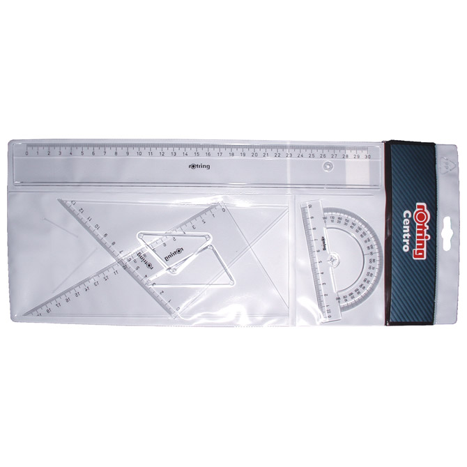 Geometrijski set 1/4 Centro Rotring 823509 (S0221370) blister