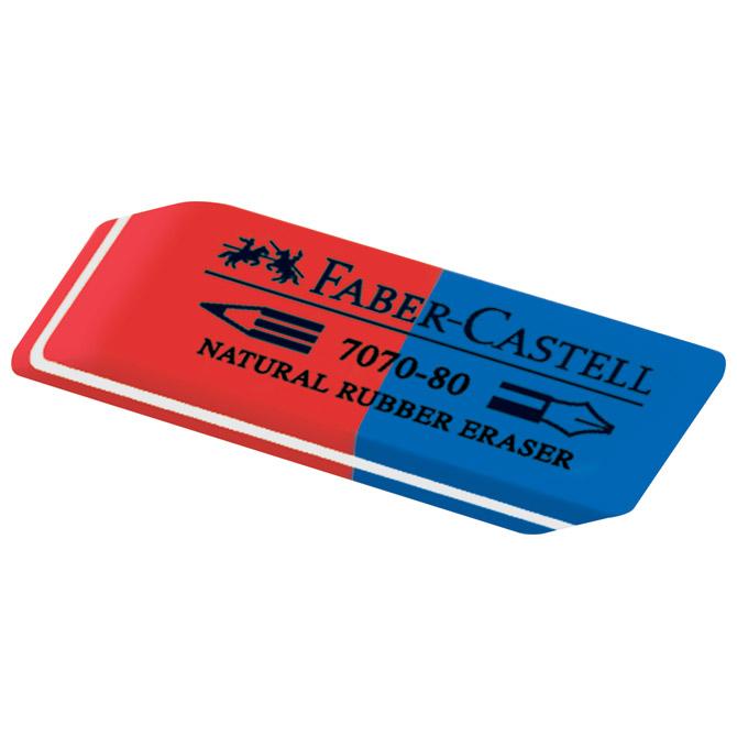 Gumica kaučuk tinta/grafitna 7070-80 Faber Castell 187080 crvena-plava-KOMAD!!