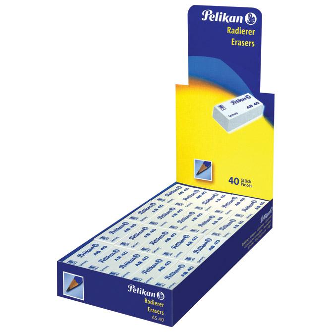 Gumica plastična AS40 Pelikan 606095 bijela-KOMAD!!