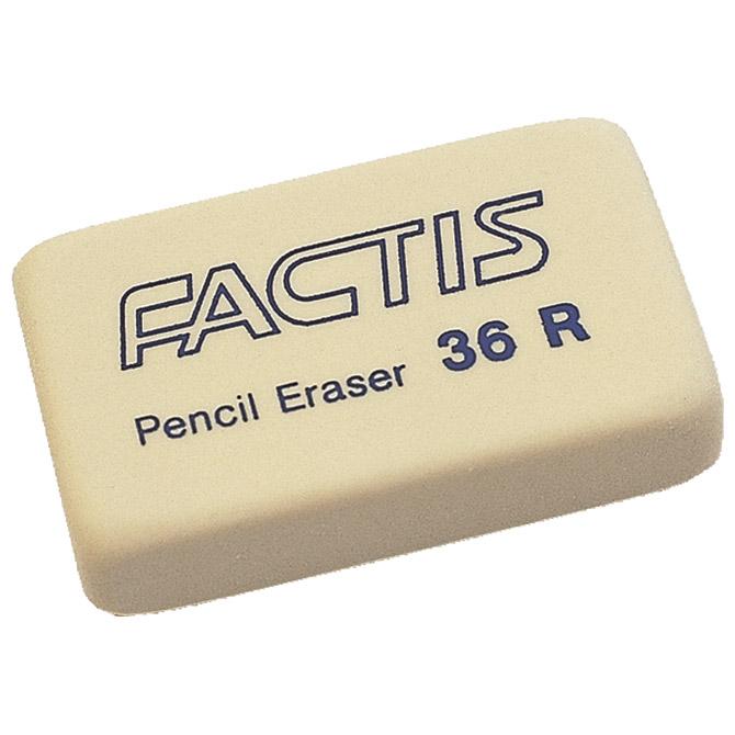 Gumica sintetička 36R Factis bijela-KOMAD