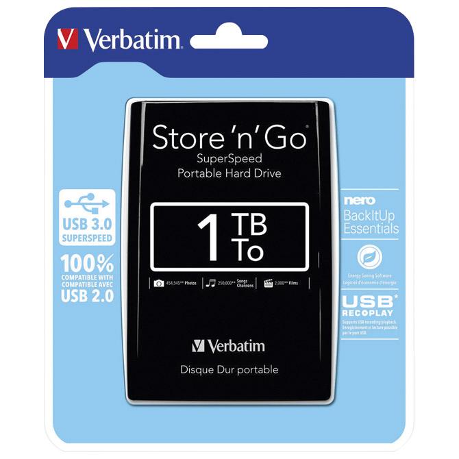 "Hard disk 2.5""     1Tb USB 3.0 Verbatim 53023 crni"