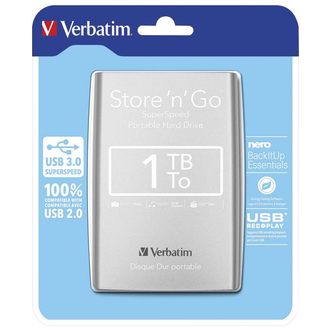 "Hard disk 2.5""     1Tb USB 3.0 Verbatim 53071 sivi"