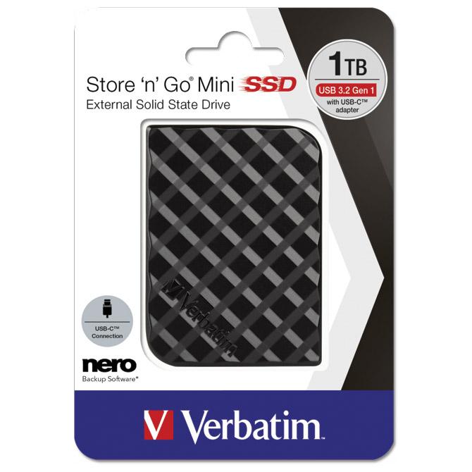 Hard disk SSD 1TB USB 3.2 Store'n'Go Mini Verbatim 53237 blister