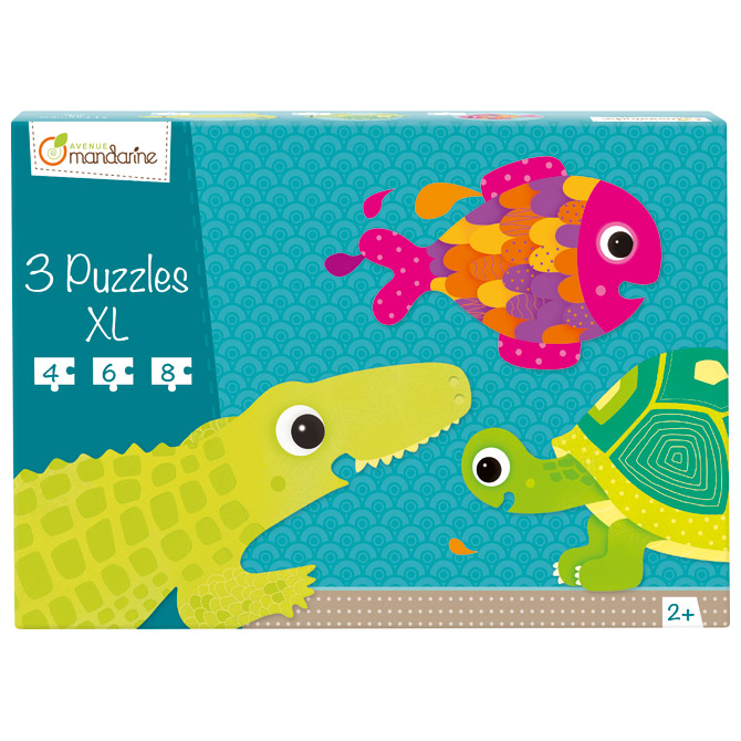 Igračka puzzle XL(3 komada-vodozemci) Avenue Mandarine Clairefontaine 42700O!!