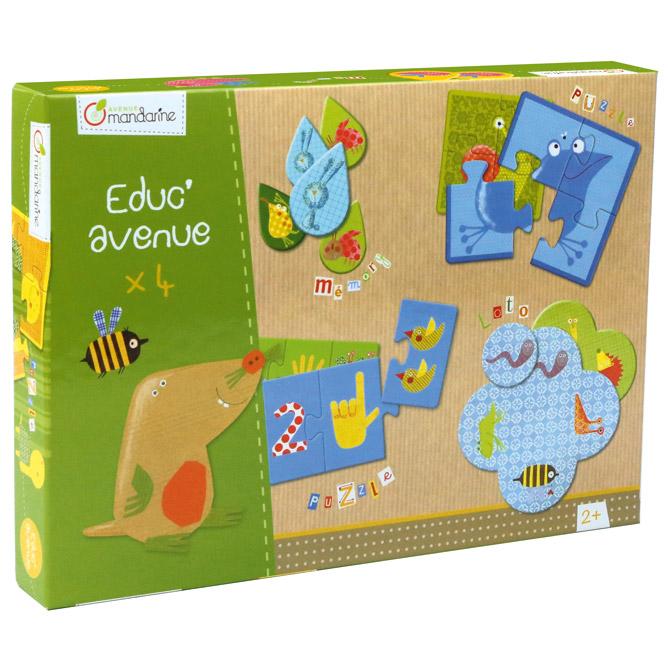 Igračka set od 4 edukativne igre(vrt) Avenue Mandarine Clairefontaine 42810O!!