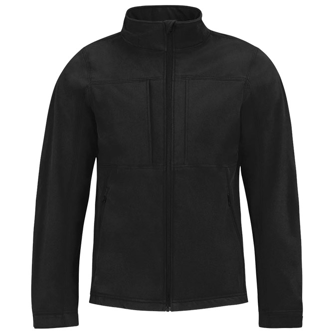 Jakna zip muška B&C Hooded Softshell crna 2XL