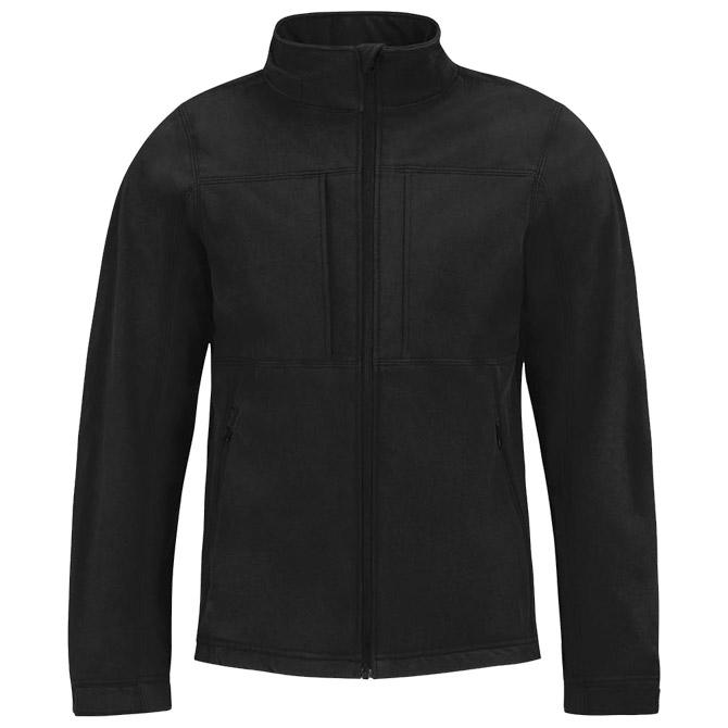 Jakna zip muška B&C Hooded Softshell crna L