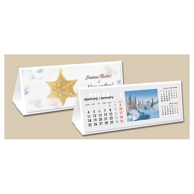 Kalendar stolni mali-čestitka (s kuvertom)