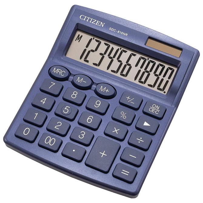 Kalkulator komercijalni 10mjesta Citizen SDC-810NRNVE plavi blister