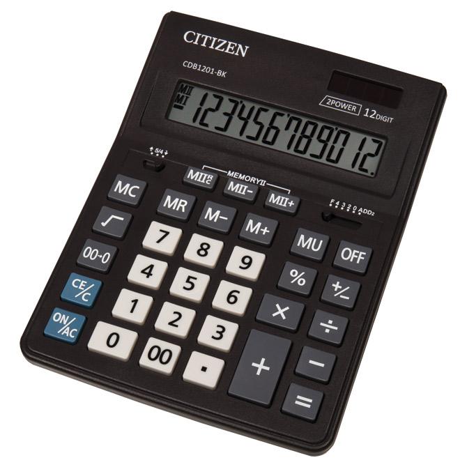 Kalkulator komercijalni 12mjesta Citizen CDB-1201 BK crni
