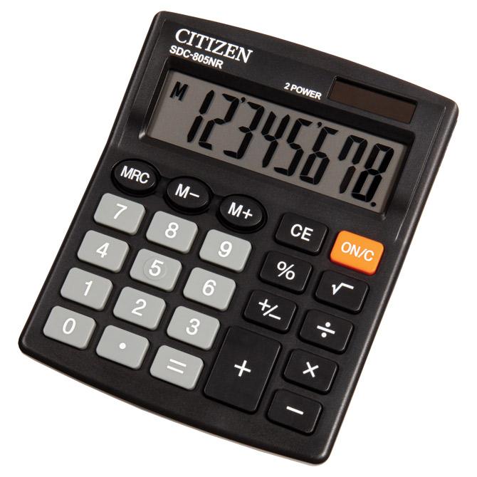 Kalkulator komercijalni  8mjesta Citizen SDC-805NR crni blister