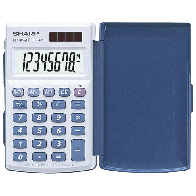 Kalkulator komercijalni  8mjesta Sharp EL-243S bijeli!!