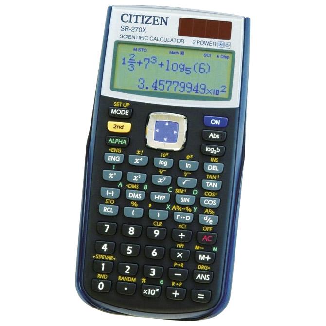 Kalkulator tehnički 10+2mjesta 251 funkcija Citizen SR-270X crni blister