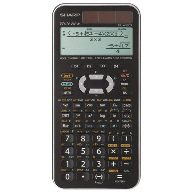 Kalkulator tehnički 10+2mjesta 556 funkcija Sharp EL-W506XSLC srebrni!!