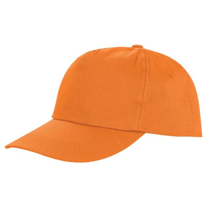 Kapa šilt 5 panela Houston narančasta