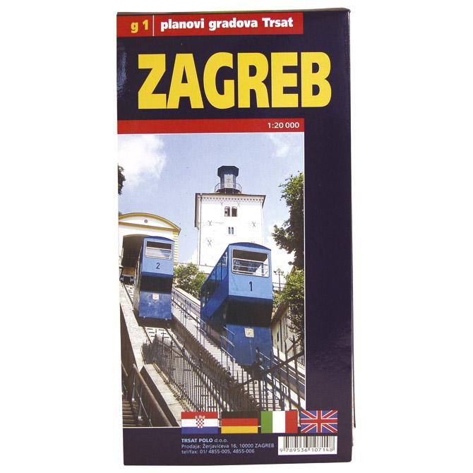 Karta grada Zagreba-složiva Trsat