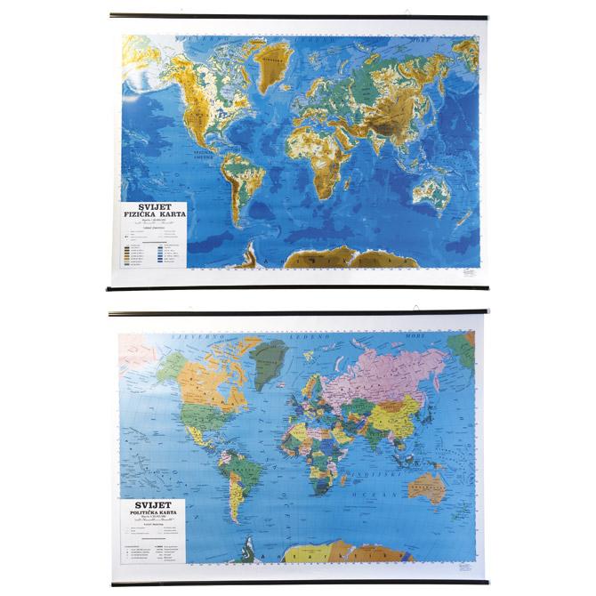 Karta zidna svijeta-1:30.000.000 politička Questor