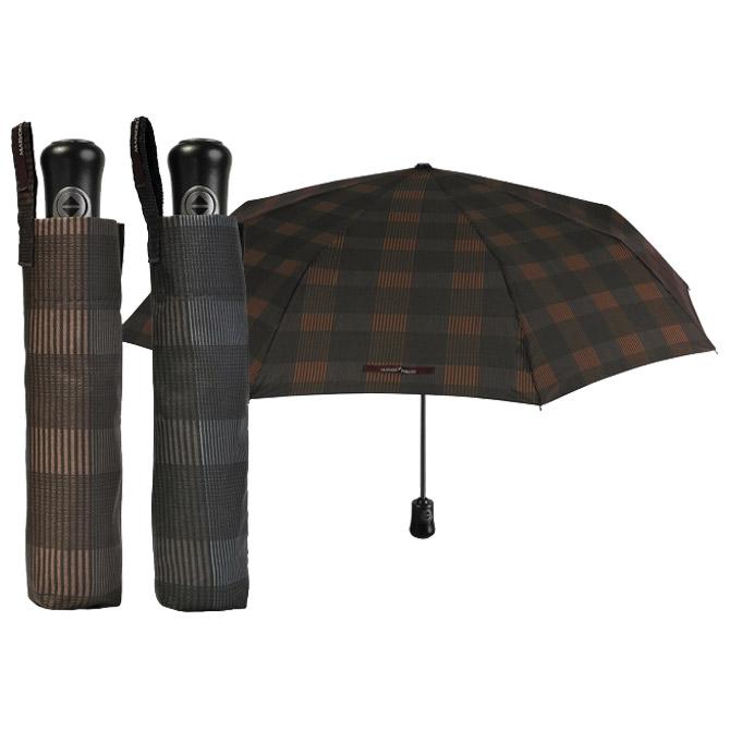 Kišobran automatik (otvaranje+zatvaranje na gumb) sklopivi s plastičnom drškom Maison Perletti 16215 sortirano!!