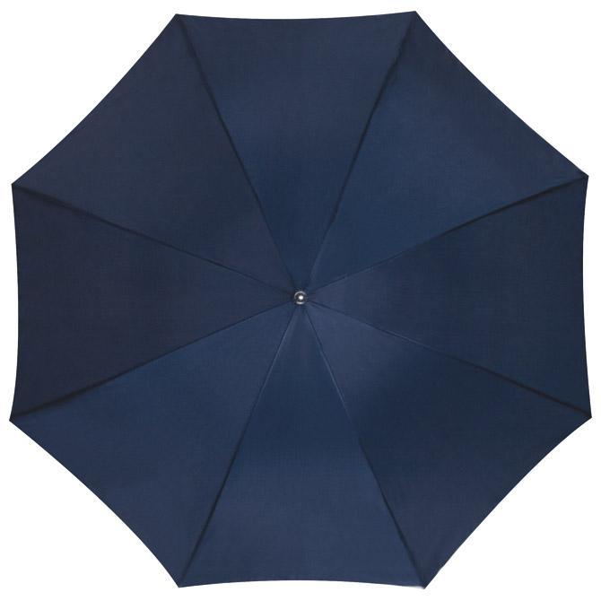 Kišobran automatik s drvenom drškom tamno plavi