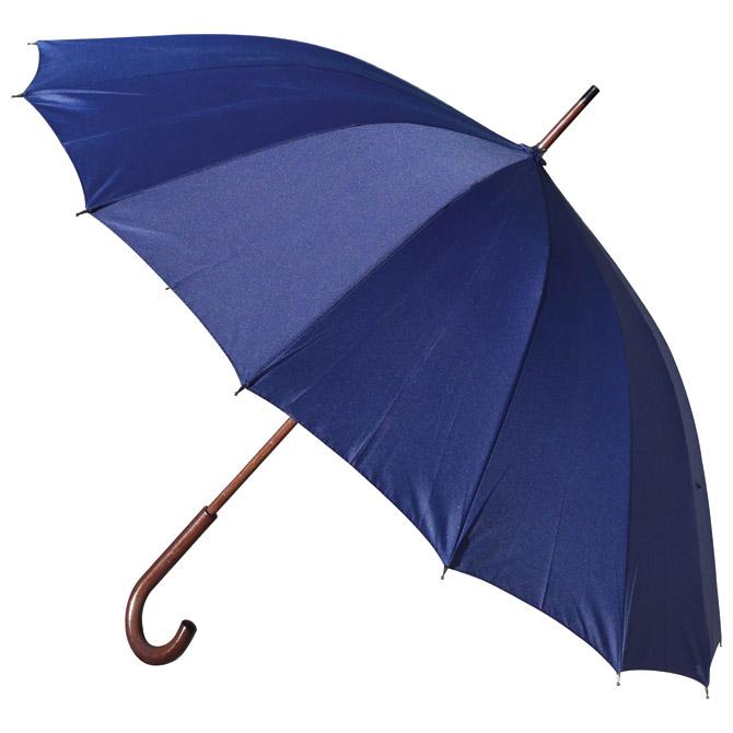 Kišobran automatik s drvenom ručkom 16panela H-1002 Stratus plavi!!