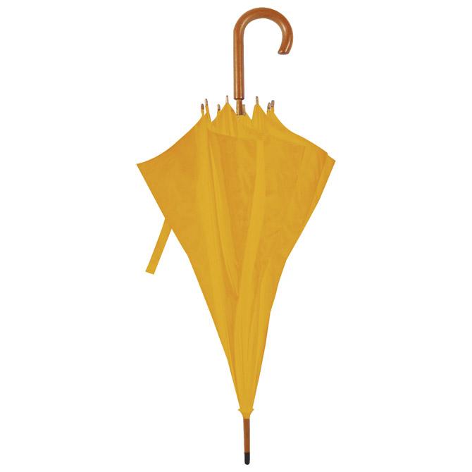 Kišobran automatik s drvenom ručkom Classic narančasto/žuti