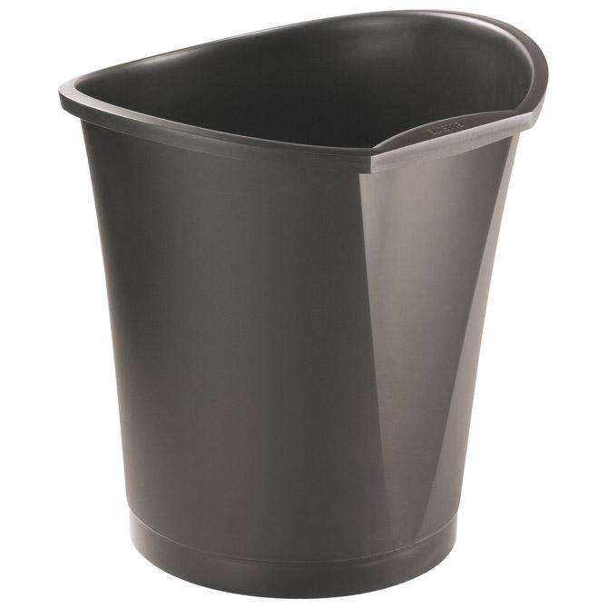 Koš za smeće pp 15L Basko Esselte 126630 crni