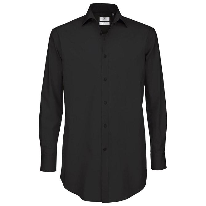 Košulja muška dugi rukavi B&C Black Tie 135g crna XL!!