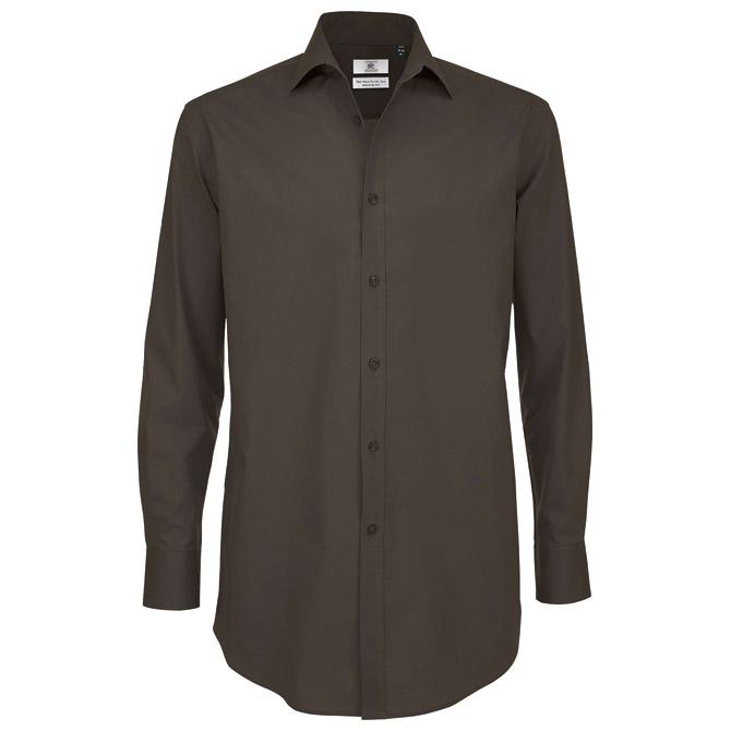 Košulja muška dugi rukavi B&C Black Tie 135g tamno smeđa L!!