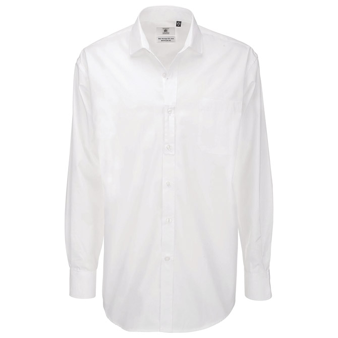Košulja muška dugi rukavi B&C Heritage 120g bijela 2XL