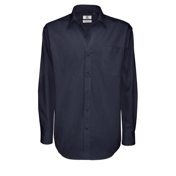 Košulja muška dugi rukavi B&C Sharp 130g tamno plava L!!