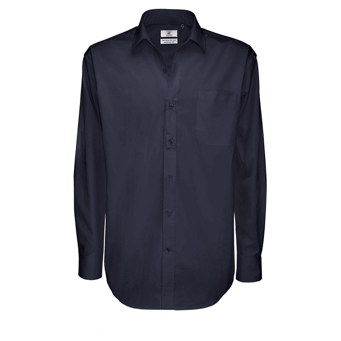 Košulja muška dugi rukavi B&C Sharp 130g tamno plava XL!!