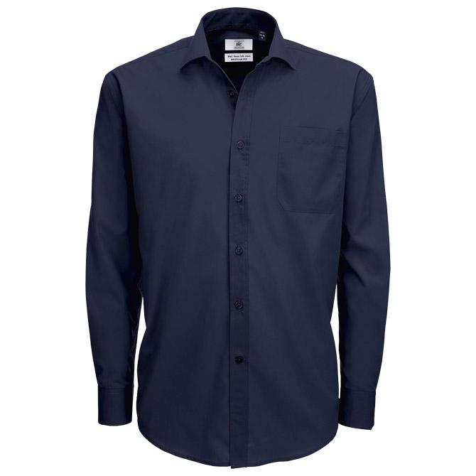 Košulja muška dugi rukavi B&C Smart 115g tamno plava L!!