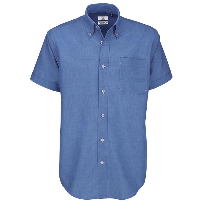Košulja muška kratki rukavi B&C Oxford plava M!!