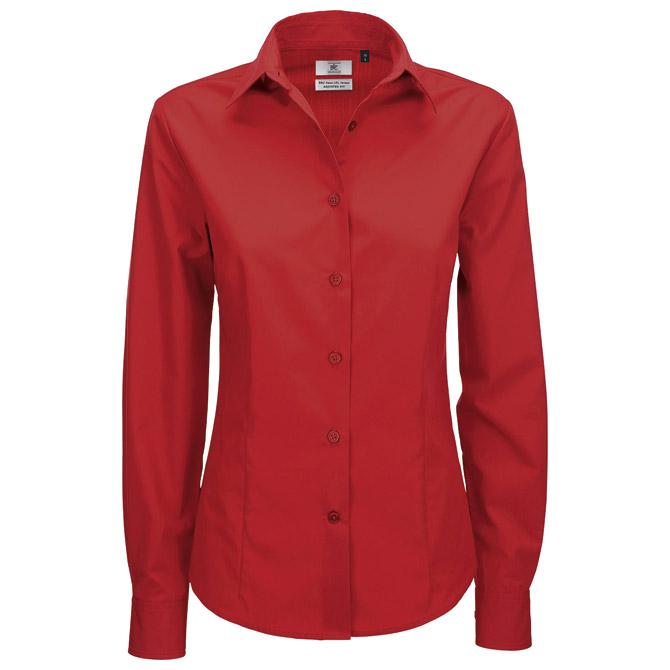 Košulja ženska dugi rukavi B&C Smart 115g crvena M!!