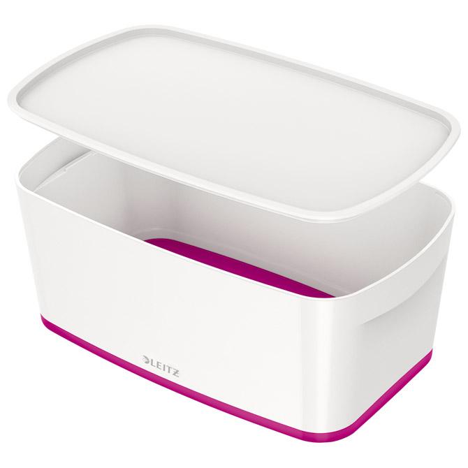 Kutija 318x191x128mm sa poklopcem pvc MyBox Leitz 522910-23 rozo/bijela!!