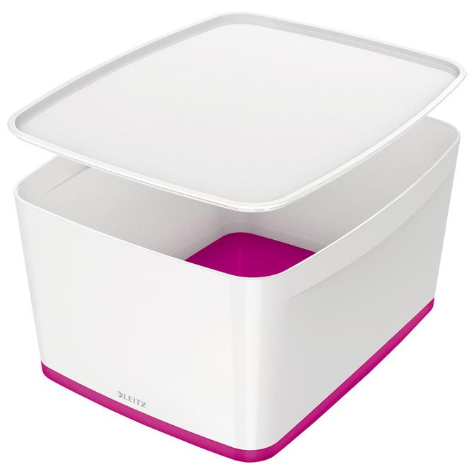 Kutija 318x385x198mm sa poklopcem pvc MyBox Leitz 521610-23 rozo/bijela!!