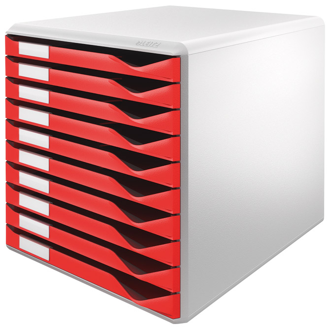 Kutija s 10 ladica Form set Leitz 52810025 crvena