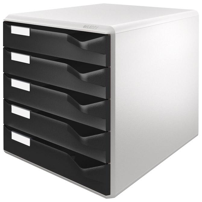 Kutija s  5 ladica Post set Leitz 52800095 crna