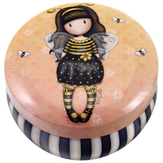 Kutija ukrasna metalna s poklopcem Bee Loved Gorjuss 242JB
