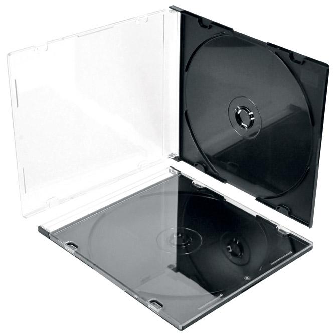 Kutija za   1 CD pvc slim prozirna/crna