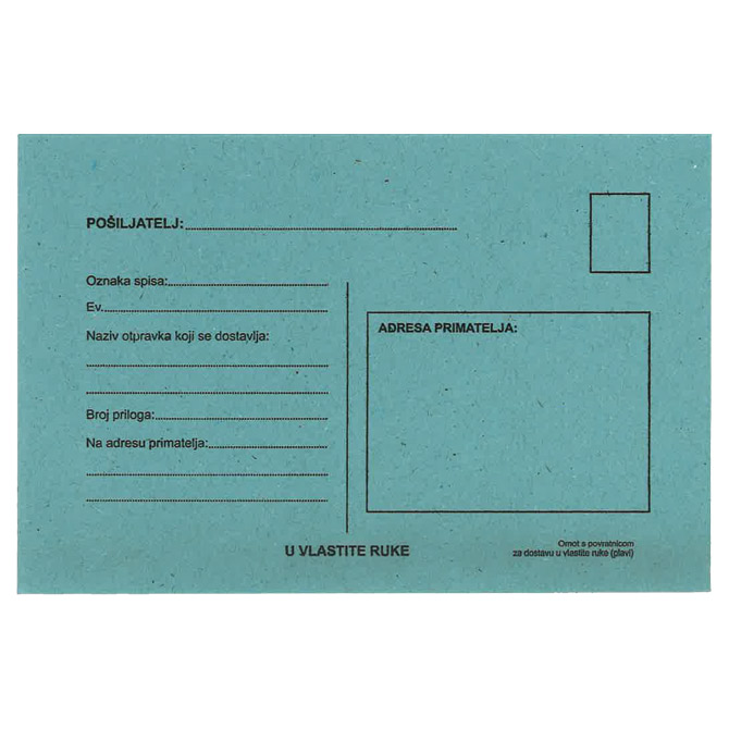 Kuverte B6-5 s povratnicom 75g pk100 Fornax