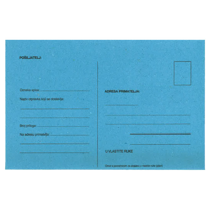 Kuverte B6-5 s povratnicom strip pk1000 Croatan