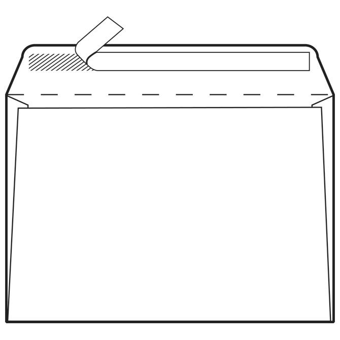 Kuverte C4-BB strip 90g pk250 Fornax