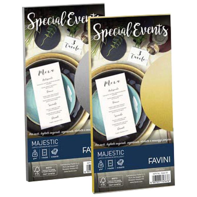 Kuverte Special Events 11x22cm 120g pk10 Favini zlatne