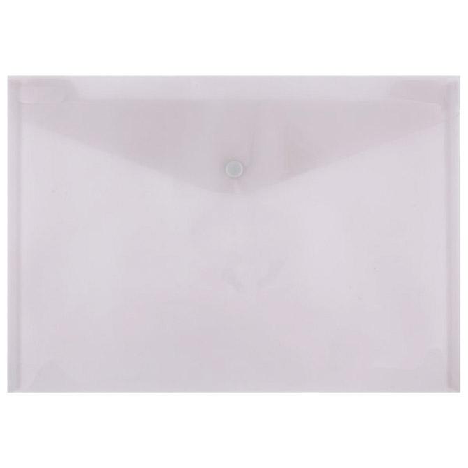 Kuverte s gumbom A4 pp Donau 8544001PL-02 prozirne boja dima