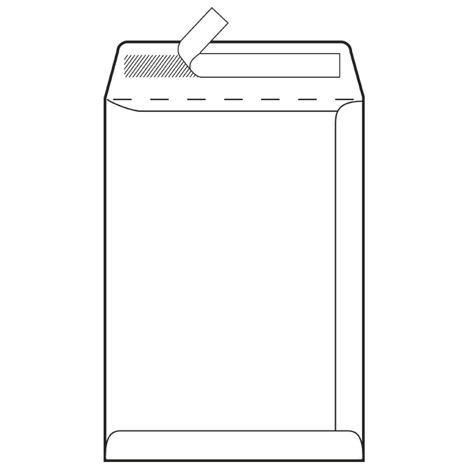 Kuverte - vrećice B4-BB strip 100g pk250 Fornax