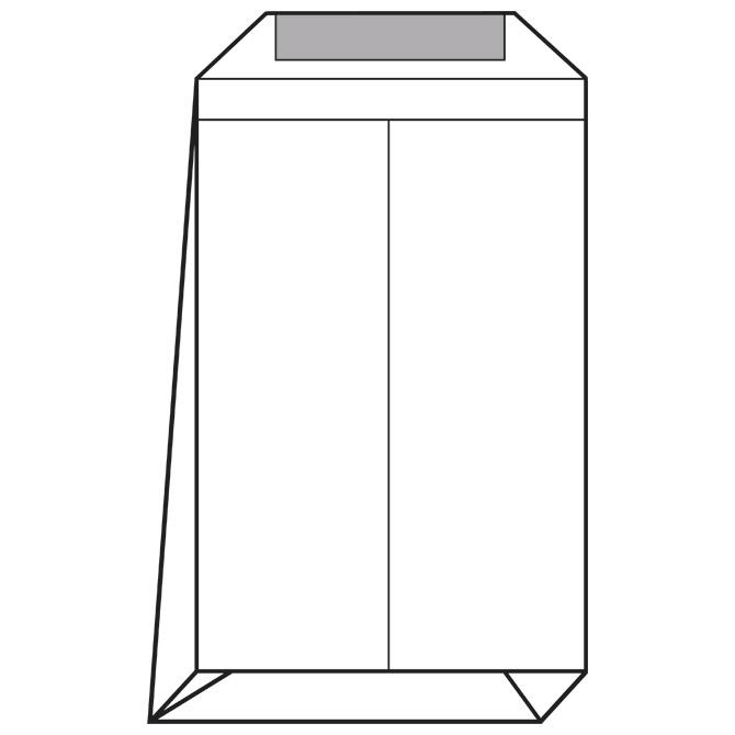 Kuverte - vrećice B4-BB strip križno dno pk250 Lipa Mill 12241