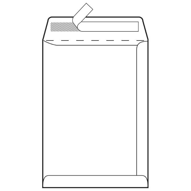 Kuverte - vrećice C4-BB strip 90g pk250 Fornax